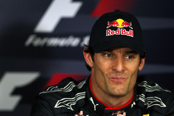 Press conference: third place Mark Webber, Red Bull Racing