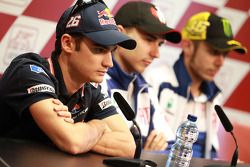 Press conference: Dani Pedrosa, Repsol Honda Team, Jorge Lorenzo, Fiat Yamaha Team and Valentino Ros