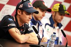 Press conference: Dani Pedrosa, Repsol Honda Team, Jorge Lorenzo, Fiat Yamaha Team and Valentino Ros