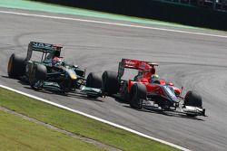Ярно Трулли, Lotus F1 Team и Лукас ди Грасси, Virgin Racing