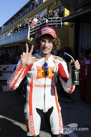 Tercer clasificado Marco Simoncelli, San Carlo Honda Gresini