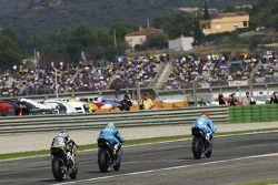 Alvaro Bautista, Rizla Suzuki MotoGP, Loris Capirossi, Rizla Suzuki MotoGP et Hiroshi Aoyama, Interwetten Honda MotoGP