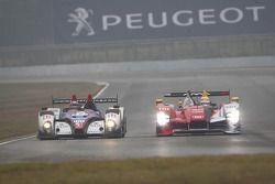 #47 Hope Polevision Racing Formula Le Mans - Oreca 09: Steve Zacchia, Shan Qi Zhang, Jeffrey Lee et #7 Audi Sport Team Joest Audi R15 TDI: Tom Kristensen, Allan McNish