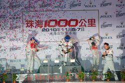 LMP1 podium: champagne celebrations
