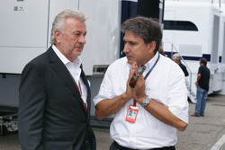 Schumacher manager Willi Weber with Pasquale Lattuneddu (Formula One Management)