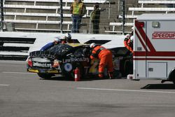 Safety crew help Alex Kennedy