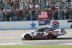 NASCAR Nationwide Series 2010 champion Brad Keselowski celebrates