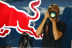 Sebastian Vettel, Red Bull Racing with a digital camera