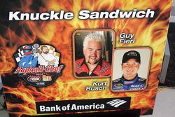 Asphalt Chef event: Knuckle Sandwich, Guy Fieri and Kurt Busch