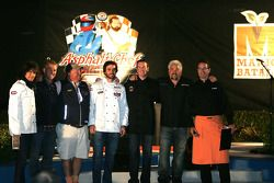 Asphalt Chef event: Kelly Hansen, Tim Love, Mario Batali, Jimmie Johnson, Kurt Busch, Guy Fieri and Dave Burns