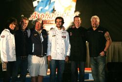 Asphalt Chef event: Kelly Hansen, Tim Love, Mario Batali, Jimmie Johnson, Kurt Busch, And Guy Fieri