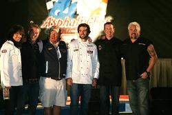 Asphalt Chef event: Kelly Hansen, Tim Love, Mario Batali, Jimmie Johnson, Kurt Busch, And Guy Fieri