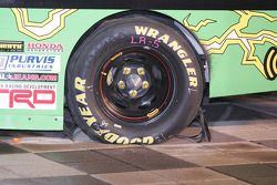 Left rear of Kyle Busch's truck