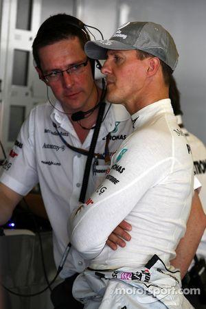 Andrew Shovlin, Mercedes GP, Ingeniero de carrera para Michael Schumacher, Michael Schumacher, Merce