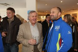 Rally legend Jimmy McRae shares a light hearted moment with Christian Loriaux at the 'Farewell to th