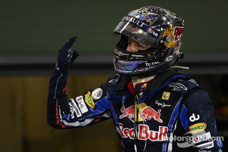 La celebración de Sebastian Vettel, Red Bull Racing, campeón del mundo de F1 2010