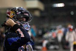 Race winner and 2010 Formula One World Champion Sebastian Vettel, Red Bull Racing, celebrates