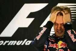 Podium: race winner and 2010 Formula One World Champion Sebastian Vettel, Red Bull Racing, celebrate