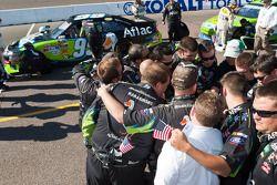 L'équipe Roush Fenway Racing Ford en discussion