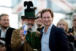 Team principal Christian Horner with a traditional Austrian