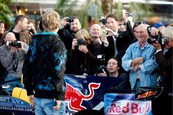 Sebastian Vettel et la presse