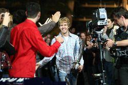 Sebastian Vettel avec les fans