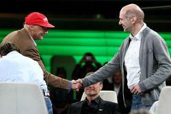 Niki Lauda et Adrian Newey