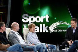 David Coulthard, Adrian Newey, Sebastian Vettel et Andreas Groebl