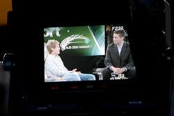 Sebastian Vettel and anchorman Andreas Groebl