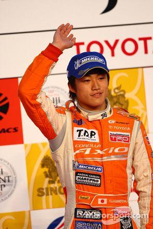 Podium GT300: second place Yuji Kunimoto