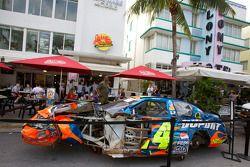 Crash: wagen van Jeff Gordon, Hendrick Motorsports Chevrolet op Ocean Drive
