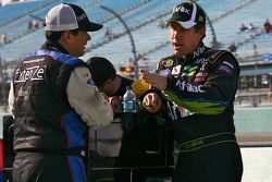 Kevin Conway, Robby Gordon Motorsports Toyota en Carl Edwards, Roush Fenway Racing Ford