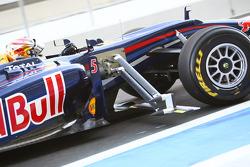 Sebastian Vettel, Red Bull Racing ve device, side, his Car