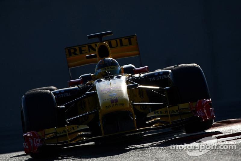 Robert Kubica, Renault F1 Team, testy na torze Yas Marina, 2010
