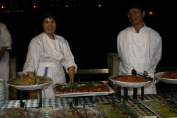 Des chefs et de la nourriture à la fête du Grand Prix Club