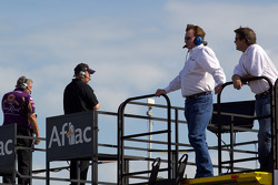 Richard Childress watches practice action