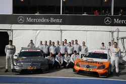 The Teams of Bruno Spengler, Team HWA AMG Mercedes C-Klasse and Gary Paffett, Team HWA AMG Mercedes