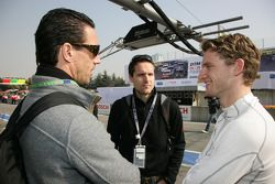 Manuel Reuter and Philip Sohmer ARD-TV are speaking with Maro Engel, Mücke Motorsport, AMG Mercedes