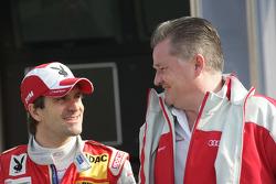 Markus Winkelhock (Audi Sport Team Rosberg, Audi A4 DTM) et son ingénieur Karl Jennings