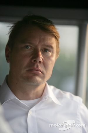 Mika Hakinnen Former F1 Champion guest of Mercedes