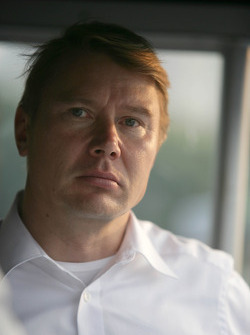 Mika Häkkinen, ancien champion F1, invité de Mercedes