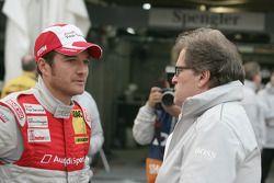 Timo Scheider, Audi Sport Team Abt Audi A4 DTM en Norbert Haug, Sporting Director Mercedes-Benz