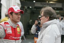Timo Scheider (Audi Sport Team Abt Audi A4 DTM) et Norbert Haug (directeur sportif Mercedes-Benz)
