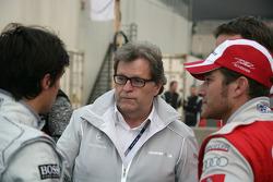 Bruno Spengler (Team HWA AMG Mercedes C-Klasse), Norbert Haug (directeur sportif Mercedes-Benz) et