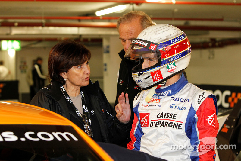 Michèle Mouton en Alain Prost