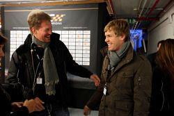 Frederik Johnson (organisateur ROC) et Sebastian Vettel