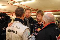 Michael Schumacher and Sebastian Vettel