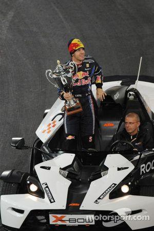 Sebastian Vettel, vainqueur de la Nations Cup, pour l'équipe d'Allemagne