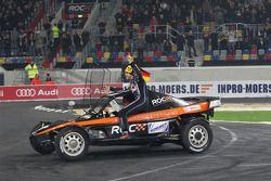 Finale : Michael Schumacher et Sebastian Vettel, vainqueurs de la Nations Cup, pour l'équipe d'Allemagne