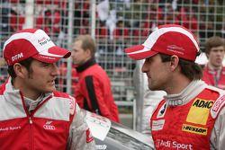 Timo Scheider, Audi Sport Team Abt Audi A4 DTM and Markus Winkelhock, Audi Sport Team Rosberg, Audi